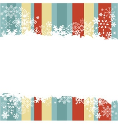 Winter invitation postcard with snowflakes vector image vector image