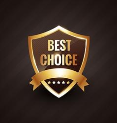 best choice golden label symbol design vector image