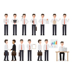 businessman people characters vector image vector image