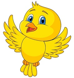 Cute bird cartoon flying vector image vector image
