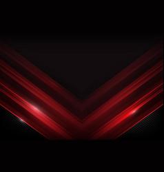 dark carbon fiber and red overlap element vector image