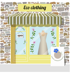 eco clothing shop organic clothes store vector image vector image