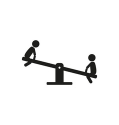 Kids children play on the seesaw playground vector image