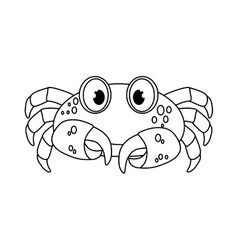 Marine crab cartoon vector image