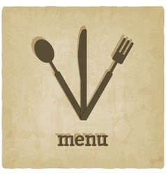 menu old background vector image vector image