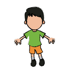 boy cartoon student young character vector image