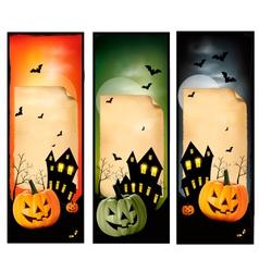 Three Halloween banners vector image vector image