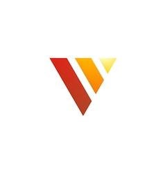 triangle shape V letter design logo vector image vector image