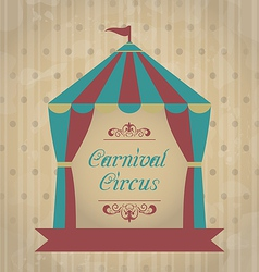 Vintage carnival poster for your advertising vector