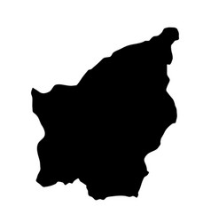 black silhouette country borders map of san vector image vector image