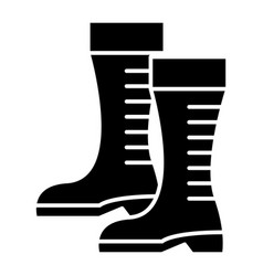 gumboots icon black sign on vector image vector image