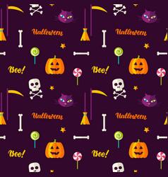 halloween print seamless pattern vector image vector image