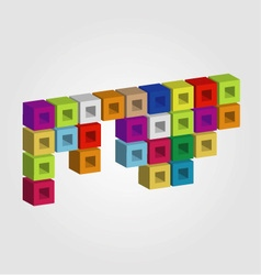 Logo with colorful cubes vector image