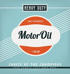 Motor Oil Label vector image