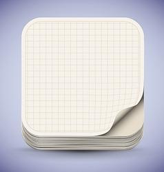 Paper App Icon vector image