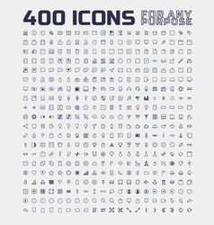 400 Universal Icons for Any Purpose vector