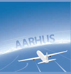 Aarhus flight destination vector