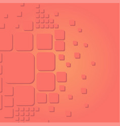abstract modern style collage in coral trend color vector image