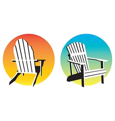 Adirondack Chair Sunset Graphics vector