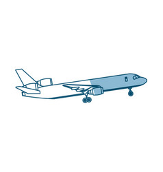 airplane passenger commercial transport outline vector image