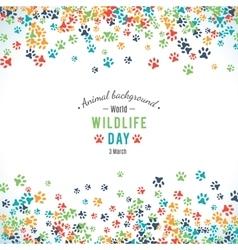 Background world wildlife day vector