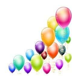 balloons corner vector image