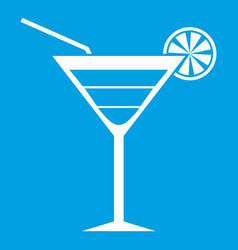 Beach cocktail icon white vector