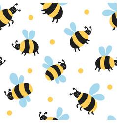 Big bee allover with polka dot vector