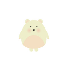 big white pretty polar bear childish isolated vector image