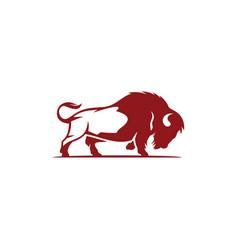 Bison logo design template vector