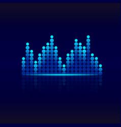 blue graphic equalizer design sound wave vector image
