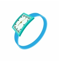 Blue wrist watch icon cartoon style vector image