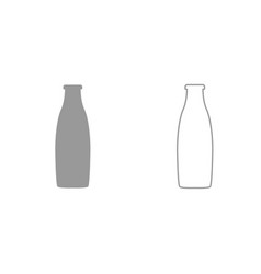 bottle grey set icon vector image