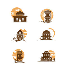 building west icon vector image