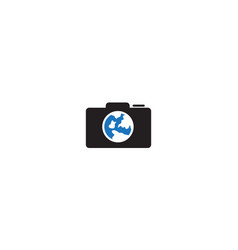 Camera or shutter or photography with earth vector