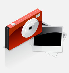 Camera with Photo Icon vector image