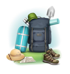 camping stuff vector image