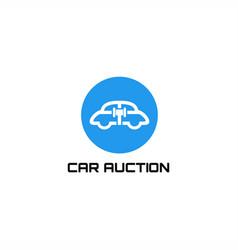 car auction logo vector image