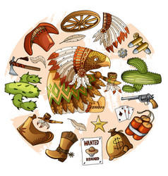 Cartoon character american eagle set of classic vector