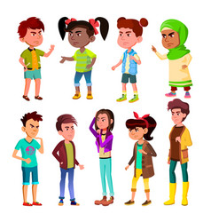 character children and teenager blowout set vector image