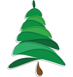 Christmas tree on a white background vector image