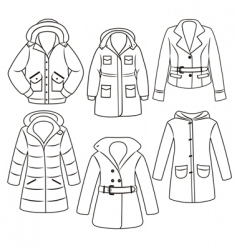 clothes set vector image vector image