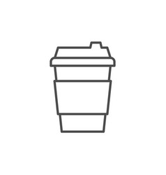 coffee cup line outline icon vector image