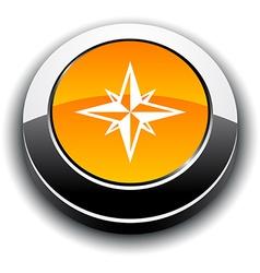 Compass 3d round button vector
