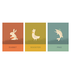 concept restaurant poster set with french food vector image