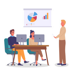 conference business meeting group workers vector image