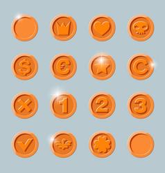 copper coins set vector image