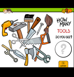 counting tools educational activity game vector image