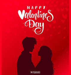 couple red valentines day vector image vector image