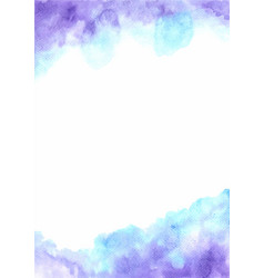 Fairy tale cloud sky watercolor background vector